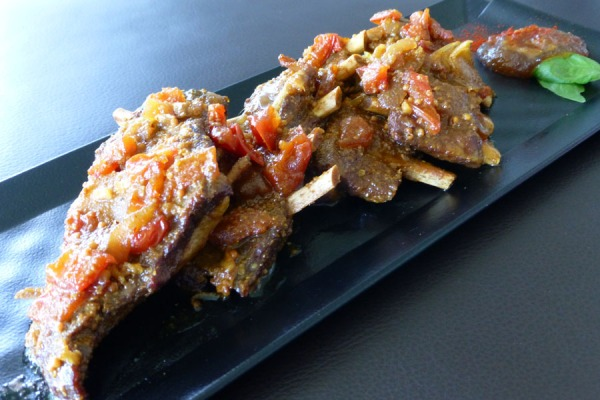 braised wild boar ribs